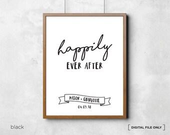 Personalized Wedding Printable Wall Art Anniversary Art Print Engagement. Wedding present. Wedding wall art decor. Love wall art. Wall decor