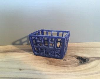 Dark Blue berry basket