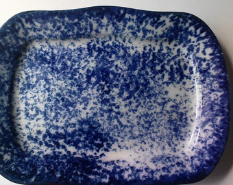 LOWEST PRICE YET - Exceptional 19th Century Spongeware Platter