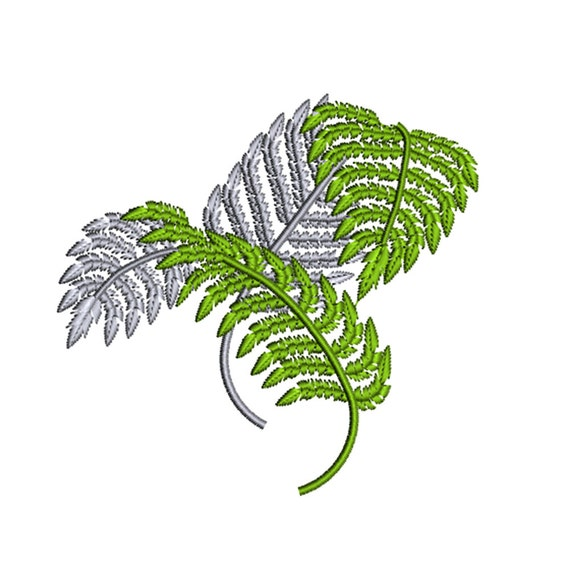 Instant download silver fern plant leaf nature by tracenlines