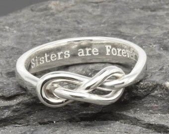 Infinity Ring, Maid Of Honor, Best Friend, Promise, Personalized, Friendship, Sisters, Mother Daughter, Bridesmaid, Wedding, Anniversary