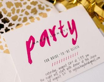 bachelorette party invitation  - customizable (sets of 10)  // lola louie paperie