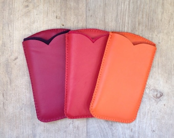 Leather and wool felt mobile phone case, design, anti schok, iphone 6
