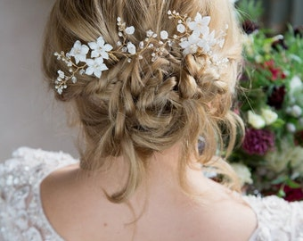 Bridal Hair Flower Hairpin | Clematis