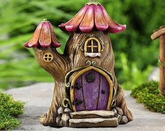 Tree House Abode Home -Fairy, Gnome, Enchanted Forest Estate -Woodland garden Terrarium  Dish garden supplies accessories kit