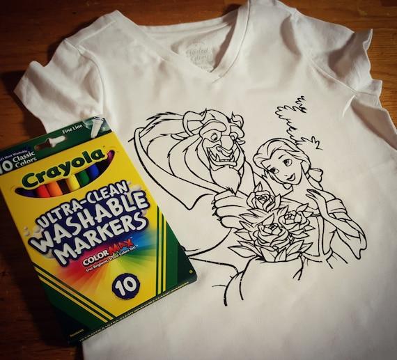 Color It Yourself Shirt Vinyl Handmade Children
