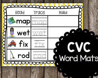 50% OFF SALE Build and Spell Words - CVC words - Learning to Read - Classroom - Kindergarten - Preschool