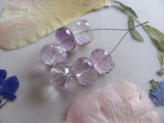 Aaa Pink Amethyst Gemstone Faceted Large Chunky Rondelle