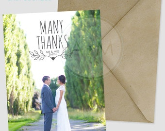Customized Thank You Template, Photo Thank You, Wedding, Printable, Wedding Thank You, Thank You, SMITH