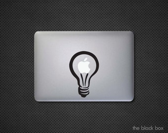 Apple Lightbulb Macbook decal - Macbook sticker