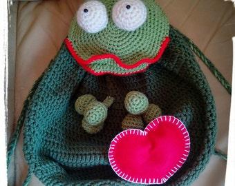 Backpack rucksack : Mr Frog in Love