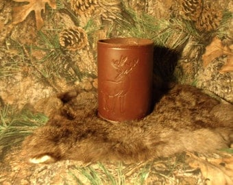 Leather Tankard/Mug/Stein Whitetail Deer