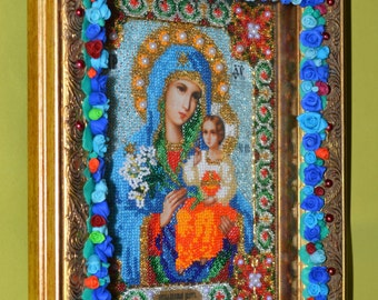 icon painting of beaded mother of God, neuvâdaemyj color picture