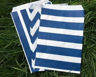 Navy Favor Bags - Set of 10