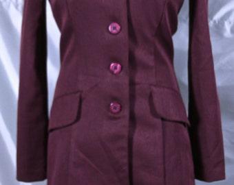 LA BELLE Burgundy Dress with Jacket
