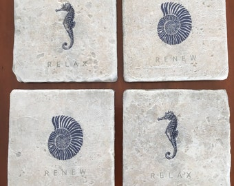 Spa/Beach Design Decorative Tile Costers