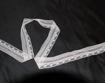 White Insertion Lace