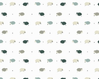 Counting Sheep (Blue)- Luxury Wallpaper by Eades Bespoke