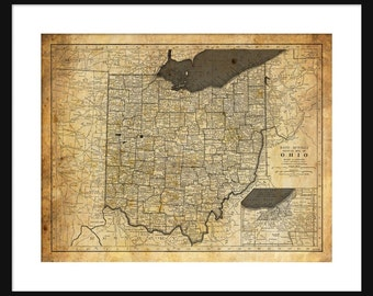 Ohio Map - Print - Poster