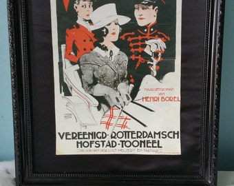 Old Dutch Theatre advertising poster Rotterdam Holland The Netherlands