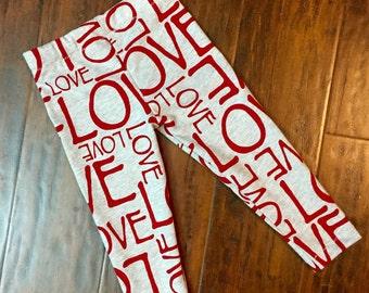 Gray Love Leggings