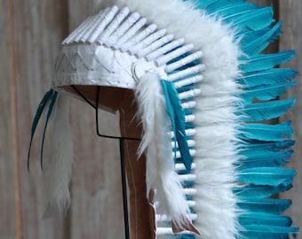 Indian Head Dress Aqua