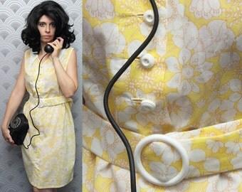 60s Yellow Flower Power Dress - 1968 Rosemary's Baby Inspiring