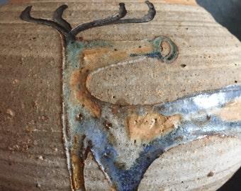 Stunning Iris Barna Studio Pottery Vase