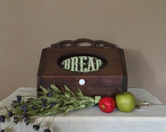 Vintage Wood Bread Box / Vintage Bread Box / Bread Box Wood / Bread Box