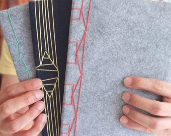Japanese Stab Binding Toolkit | Make 6 Books | Felt | Softcover
