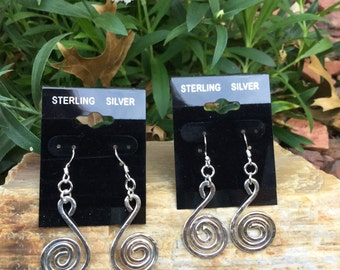 Spiral Earrings (Sterling Silver)