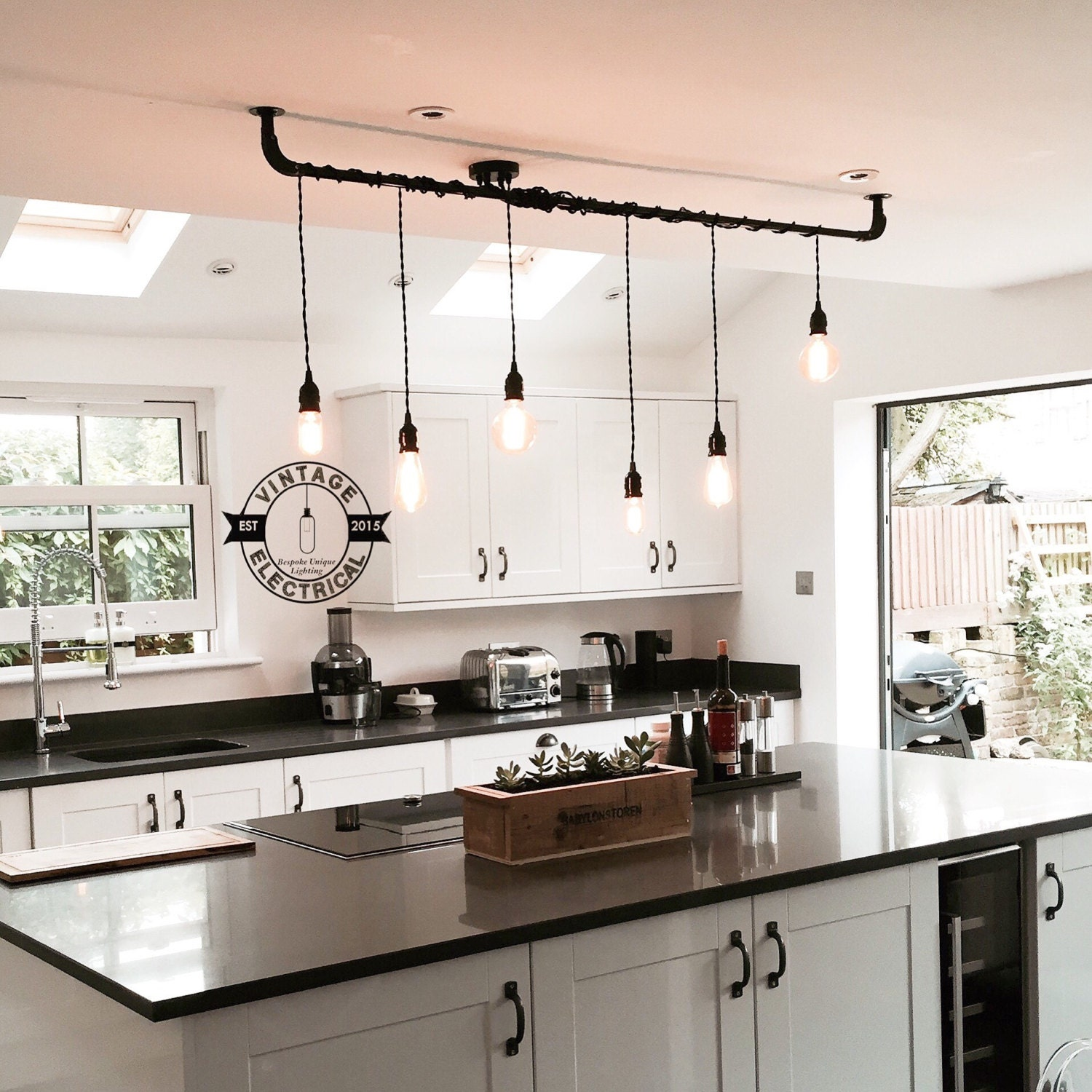 The burnham 6 x pendant drop light hanging lights ceiling Kitchen table pendant lighting
