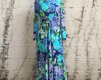 Vintage Retro Mod Marek NY Maxi Dress