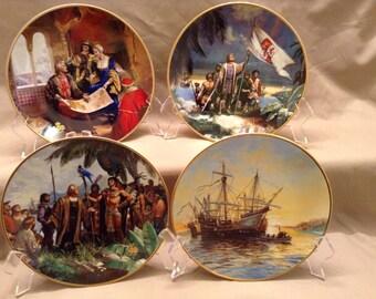 "1992 W.S. George Collector's plate set called ""Columbus Discovers America - 500th Anniversary"" artist- Jordi Penalva"