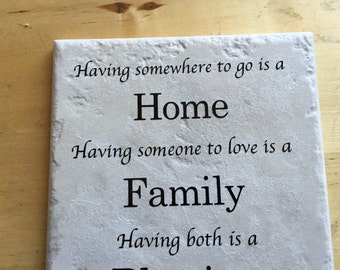 Home is famy tile home decor