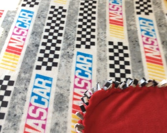 Nascar fleece tie blanket