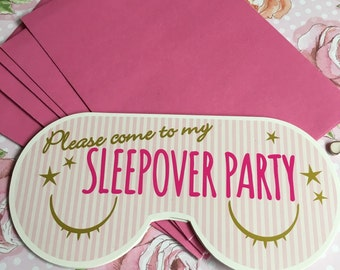 Sleepover Invitations Slumber Party!