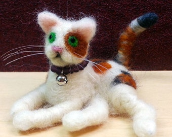 Needle Felted Little Cats