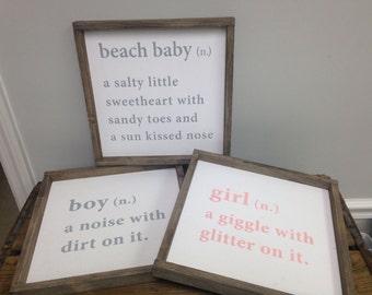 Boy/Girl Definition Sign