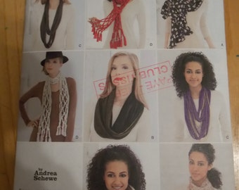 Sewing Pattern Simplicity 1790 Misses' scarves new uncut