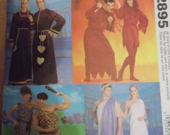 Sewing pattern McCall's 2895 Misses', men's and teen boy's tunic costumes new uncut ALL SIZES