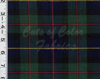 E16-18 Classic Green Navy Red Tartan Plaid 100% cotton woven plaid