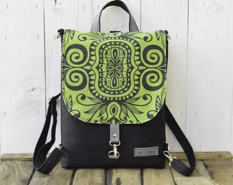 Women's Laptop Backpack, Canvas Hipster Festival Rucksack, Convertible Bag, Unique Gift for College Students, Christmas Present for Women