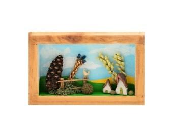 Fairy door kit for wall decor by willowbeestudio on etsy for Fairy door wall art
