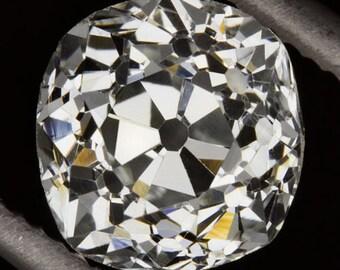 Antique Old Mine Cut Loose Diamond I VS2 EGL-USA Certified 1800s Cushion 6mm Square OMC 9427