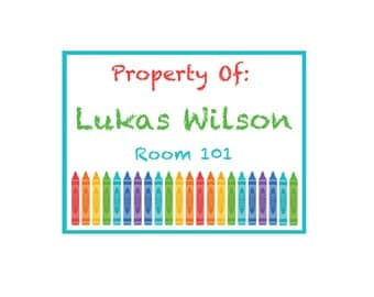 Crayon labels etsy for Crayon label template