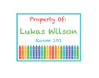 Crayon labels etsy for Crayon labels template