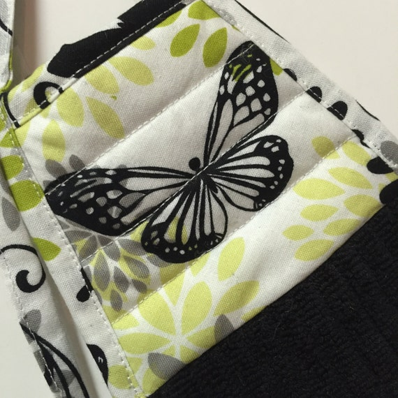 Butterfly Kitchen TowelSpring DecorBlack By Thestuffedcat
