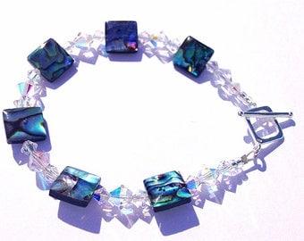 Paua - Abalone Shell & Swarovski Bracelet