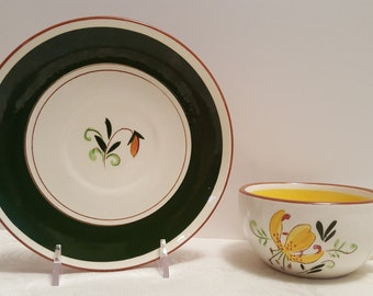 Stangl Tiger Lily Cup and Saucer #3965